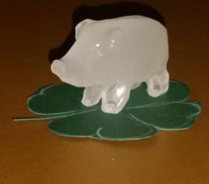 Glücksschwein aus Quarz