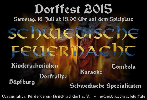 Dorffest Brückrachdorf - 18. Juli 2015